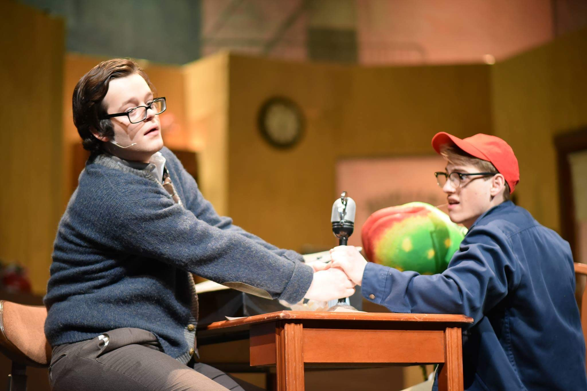Augustus Wheeler and Hayden Daniel Cox in Little Shop Of Horrors