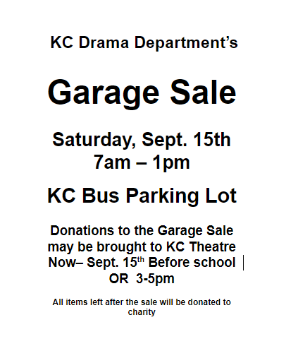 garage sale flyer google docs klein collins drama